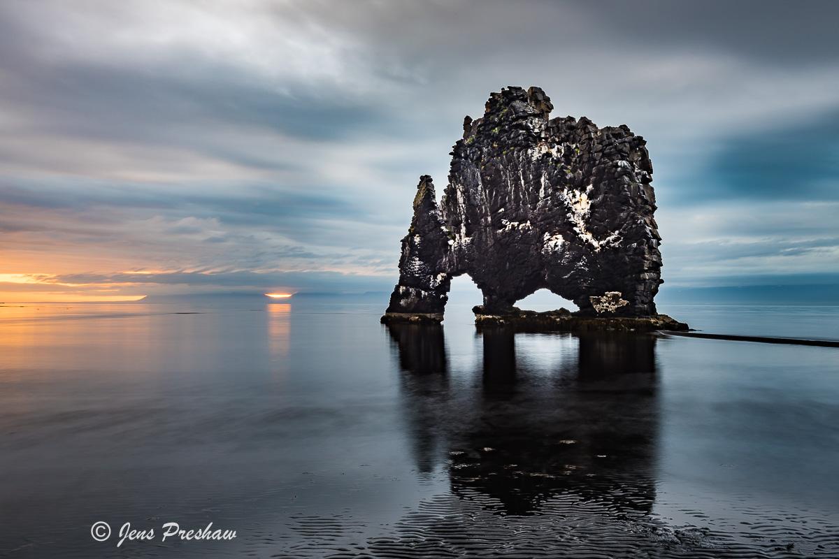 Hvítserkur, Basalt, Sea Stack, Vatnsnes Peninsula, Miðfjörður, Húnaflói, Iceland, Summer