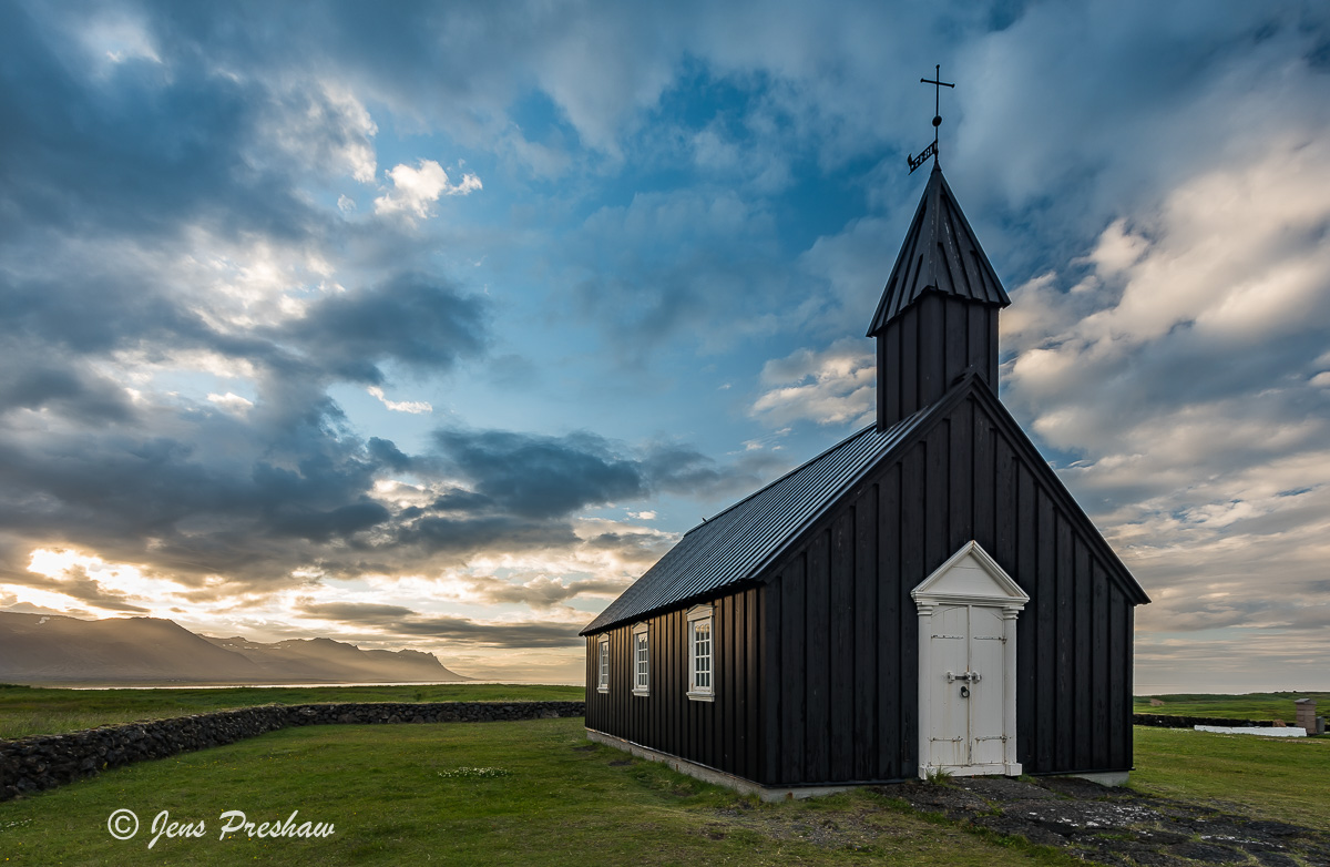 Búðakirkja, Black Church, Búðir, Snæfellsnes Peninsula, Iceland, Summer , photo