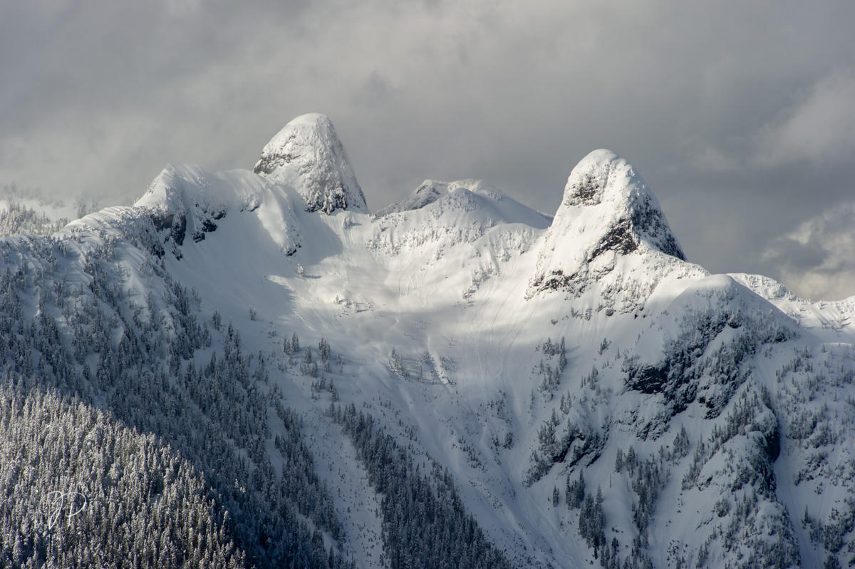 The Lions, North Shore Mountains, British Columbia, Canada, Winter, photo