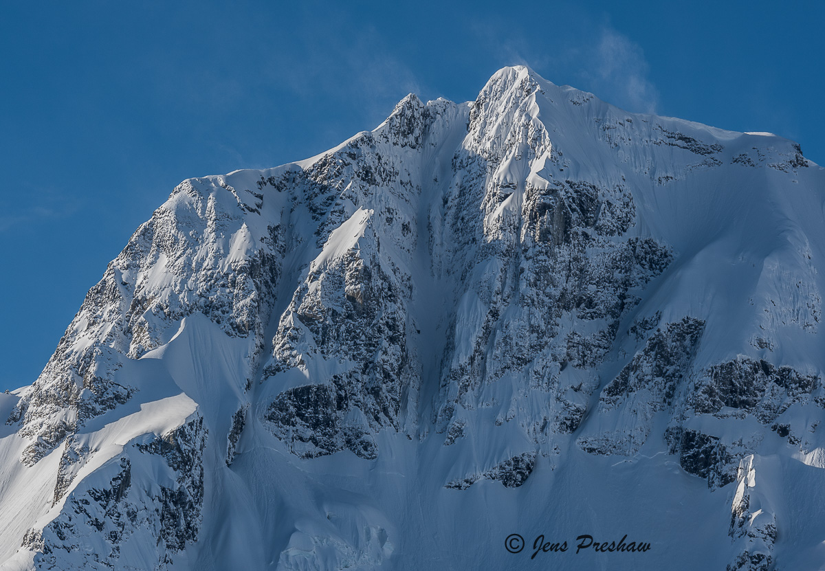 Joffre Peak, Snow Plumes, Aussie Couloir, Duffy Lake Road, British Columbia, Canada, Winter, photo